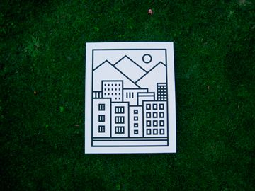 prints - 40x50cm, screenprinting, black or neon colour | mish.sk