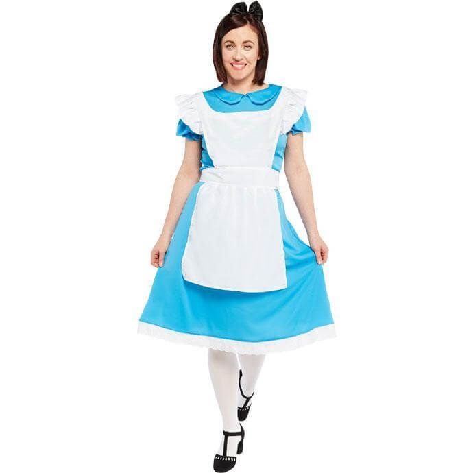 Women Adult Alice In Wonderland Costume Cosplay World Book Day Fancy Dress UK