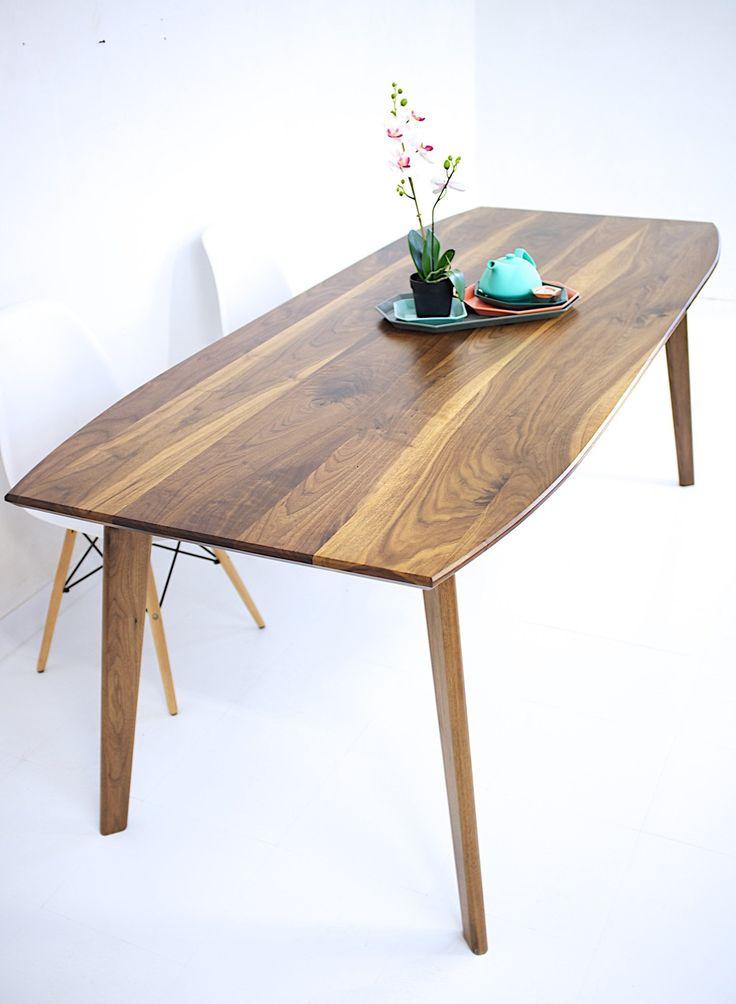 santa monica mid century modern walnut dining table moderncre8ve - Walnut Dining Table