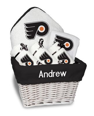 9 best philadelphia flyers baby gifts images on pinterest baby our personalized philadelphia flyers medium gift basket is a perfect baby gift with 3 burp cloths negle Gallery