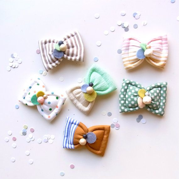 Kid Friendly  Fuwa Bow Hair Clip by HOMAKO on Etsy, $23.00