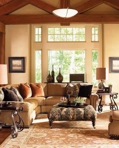 Tuscan Country - love the window and light decor