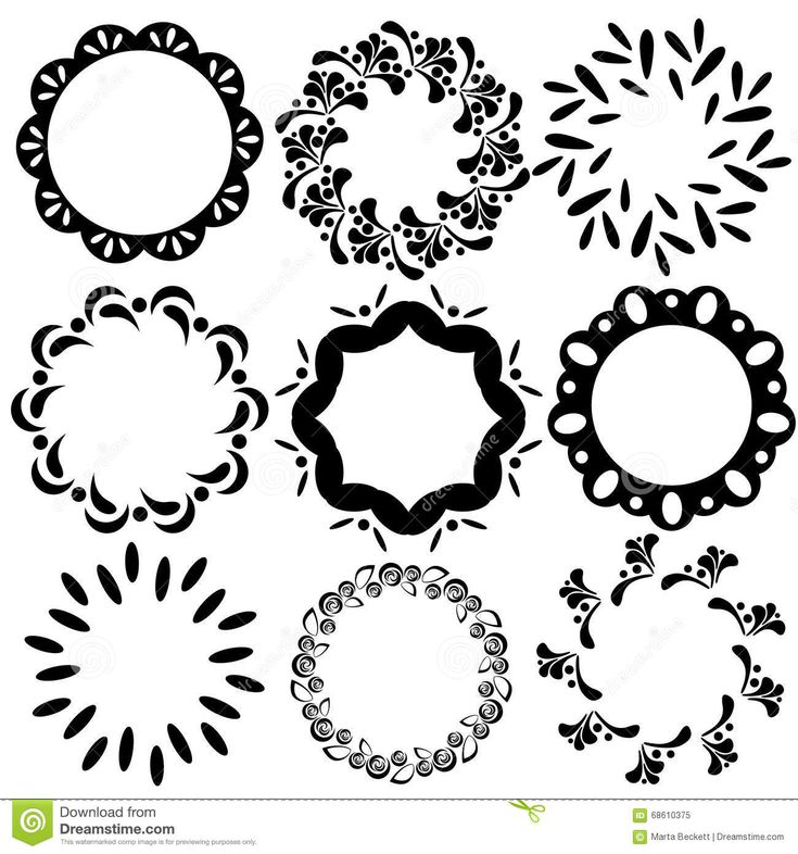image result for simple circle design with leaves