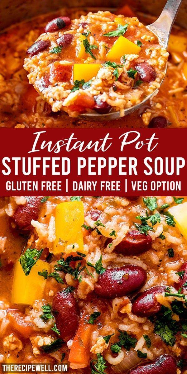 Instant Pot Stuffed Pepper Soup Recipe In 2020 Stuffed Pepper Soup Stuffed Peppers Instant Pot Soup Recipes