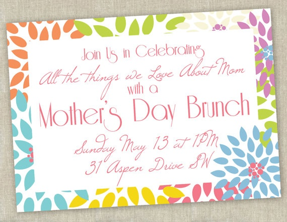 Printable Mother S Day Brunch Invitation That S Clever