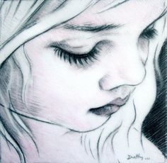 drawings of faces art   ... Duffy Art - Drawing, Black and White, Beautiful Child face drawing