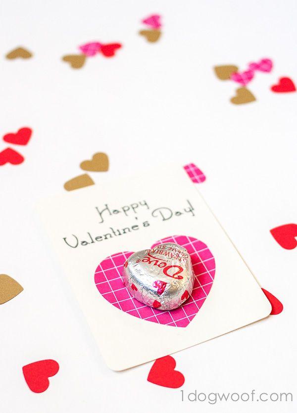 simple chocolate heart valentine