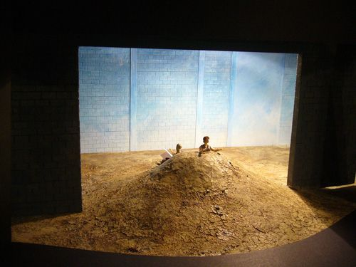 Happy Days by Beckett, Dundee Rep directed by Dominic Hill, designed by Tom Piper . Model
