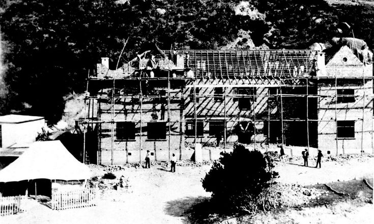 The Beach Hotel, Hout Bay, after the fire in 1903 | by HiltonT
