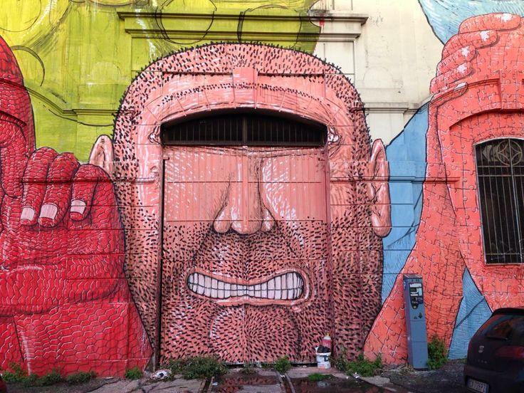 Artist blu roma street art pinterest street art for Audrey hepburn mural los angeles