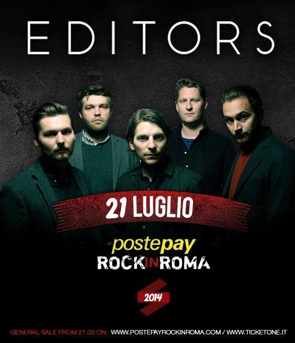 Editors 21 luglio 2014 Postepay Rock in Roma