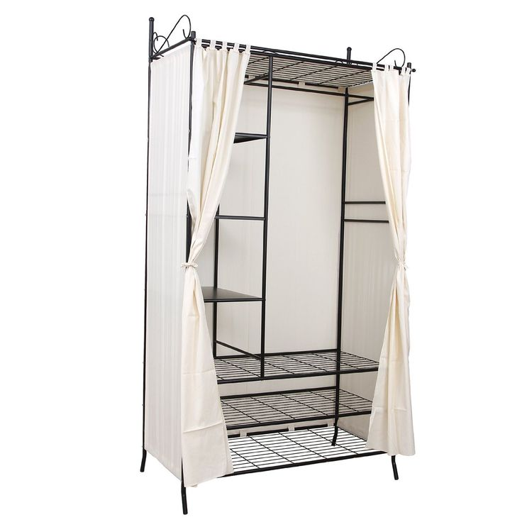 songmics armoire de rangement penderie de v tement cadre. Black Bedroom Furniture Sets. Home Design Ideas