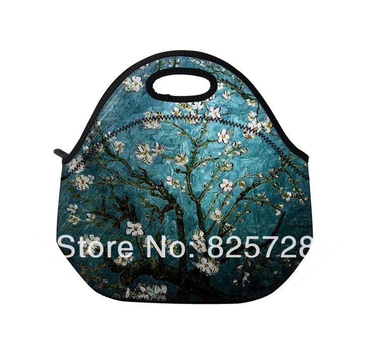 2014 nieuwe kersenboom draagbare thermische neopreen lunch tas vrouwen kinderen baby casual tassen totalisator waterdichte doos voedsel container
