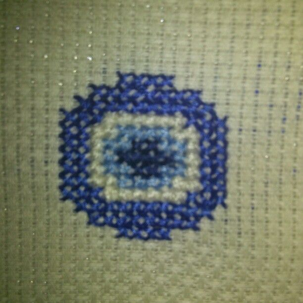 Evil eye bead crosstitch cross stitch etamin kanavice handmade nazar boncuğu