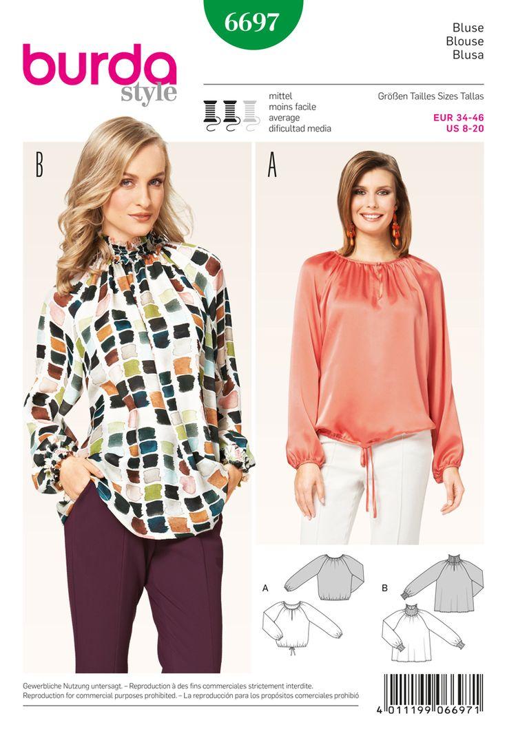 18 best Burda Tops images on Pinterest | Sew pattern, Style patterns ...