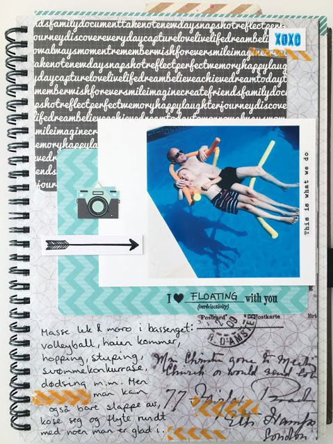 Album page for Kreativ Scrapping, using stamps:-)
