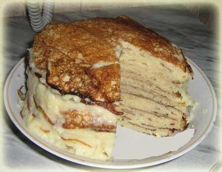 Готовим дома блинный торт с сёмгой