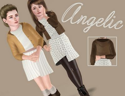 Female Clothes: Angelic Dress by Sims in Spring - The Sims 3 Custom Content