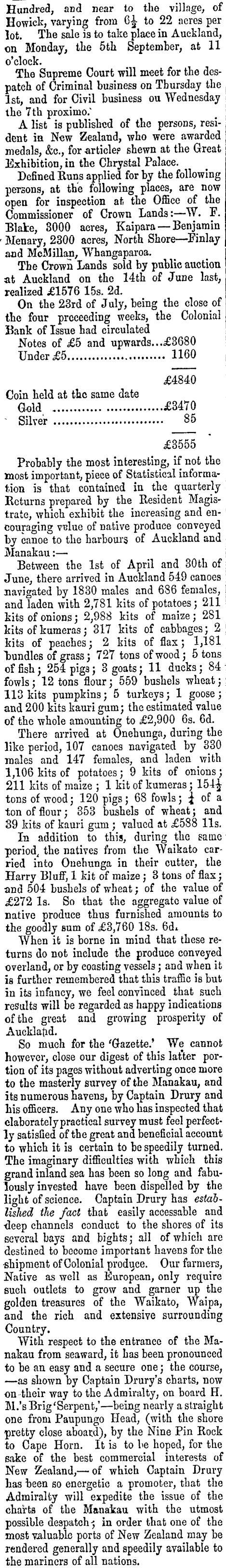 1853 Finlay McMillan North Shore Whangaparoa