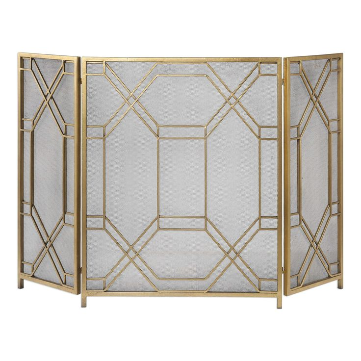 Emma Gold Leaf Fireplace Screen from The Well Appointed House