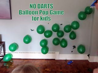 The Good Dinosaur Birthday Party! Safer Balloon Pop Game for kids that doesn't use darts!
