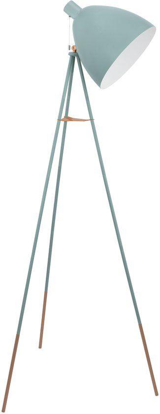 bol.com | EGLO Vintage - Vloerlamp - 1 Lichts - Mint