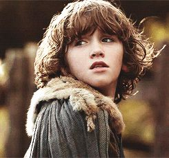 Rickon Stark is the fifth child and youngest son of Lady Catelyn and Lord Eddard born and raised at Winterfell. He has two older brothers Robb and Bran and two older sisters Sansa and Arya. He also has an older bastard half-brother of Jon Snow. He is named for his grandfather, Rickard, who died eleven years before Rickon was born. Rickon adopts a direwolf and names it Shaggydog.