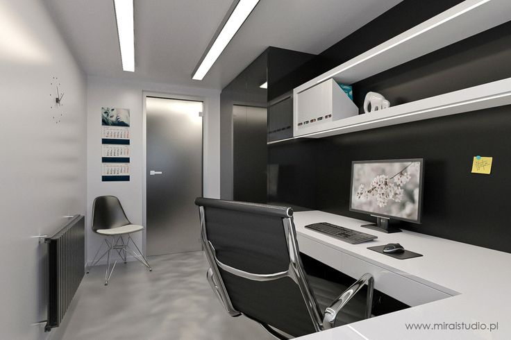 black & white: small office