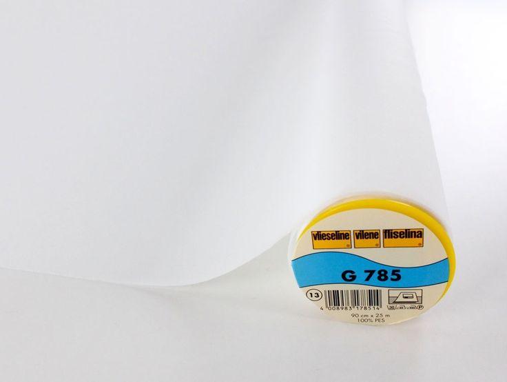 Flizelina termoprzylepna G785, biały - Flizeliny & Ocieplacze - Kupuj w sklepie internetowym w atrakcyjnych cenach