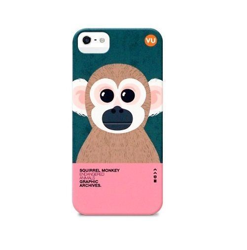 "Endangered Animals Illustration printed case for iphone 5 5s ""Squirrel Monkey""  #SungsilHwarang"