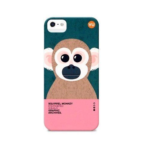 "Endangered Animals Illustration printed case for iphone 5 5s ""Squirrel Monkey""  #SungsilHwarang"