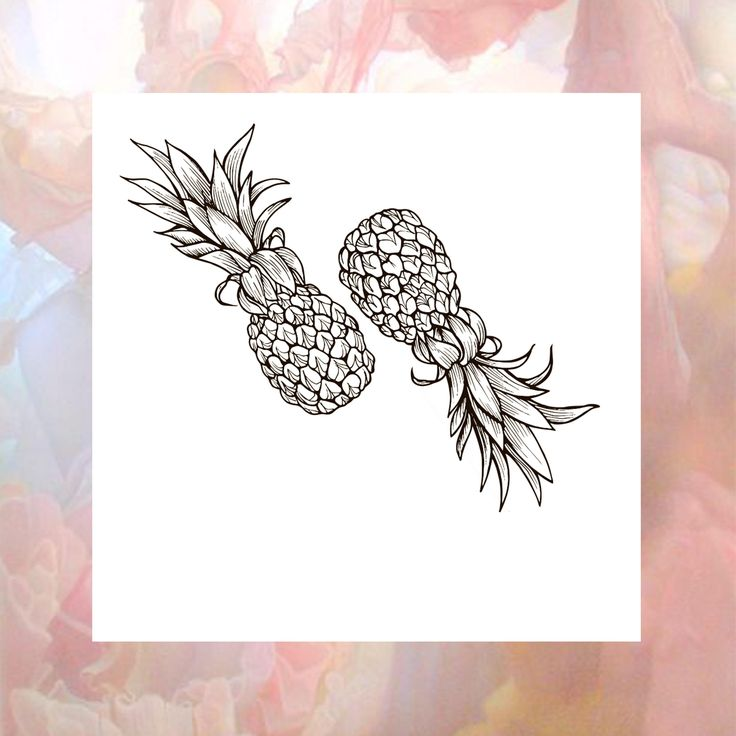Pineapple Tattoo | Fruit Temporary Tattoo | Double Pineapple Tattoo | Black Tropical Tattoo | Summer Tattoo | Festival Tattoo | Fake Tatoo by CocoAccessoriesStore on Etsy