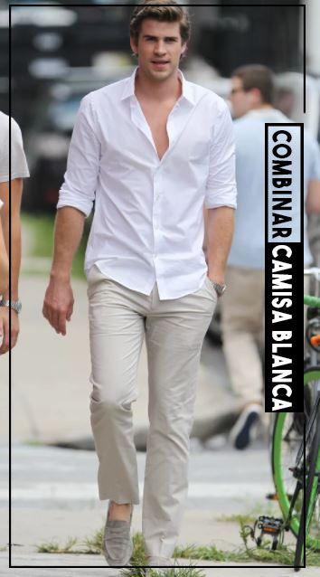 dc14bd14ea Combinar camisa blanca de hombre outfit para que des una buena impresion y  vistas a la moda