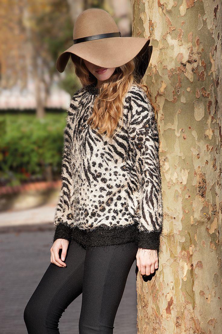Jersey de pelito con estampado animal de Señoretta