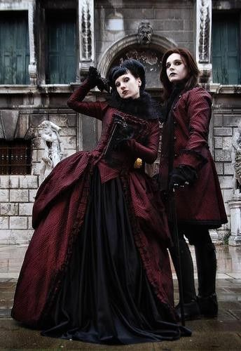 Victorian goth look. Good as a couple costume