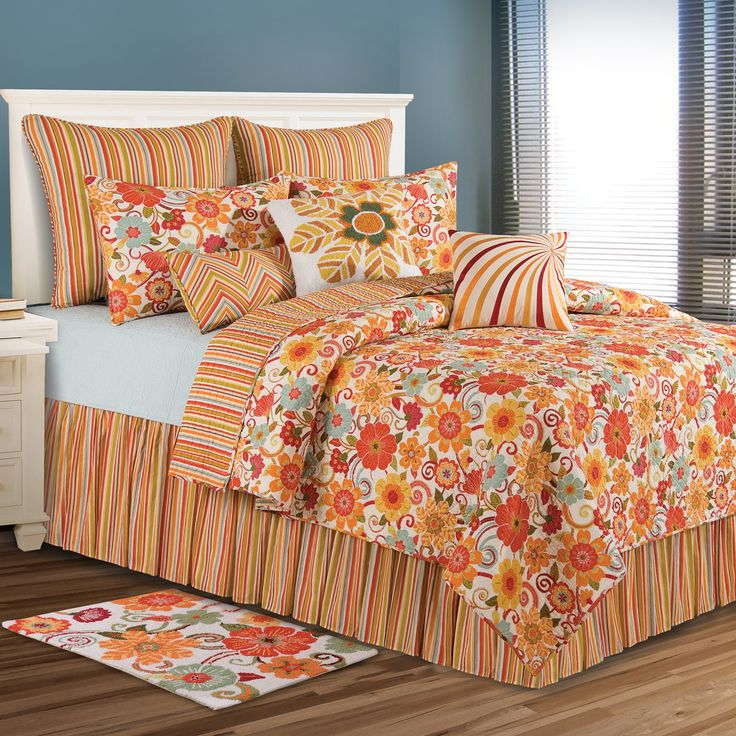 c and f enterprises giselle bedding set vintage colors and a fresh flower and stripe design give the c and f enterprises giselle bedding set a
