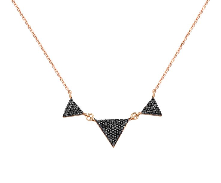 rose gold necklace in 14K with zircons