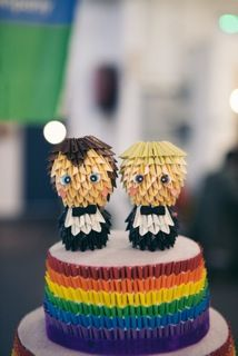 Gay Wedding Cake Toppers  Gay Pride Wedding  LGBT www.memyselfandte.com