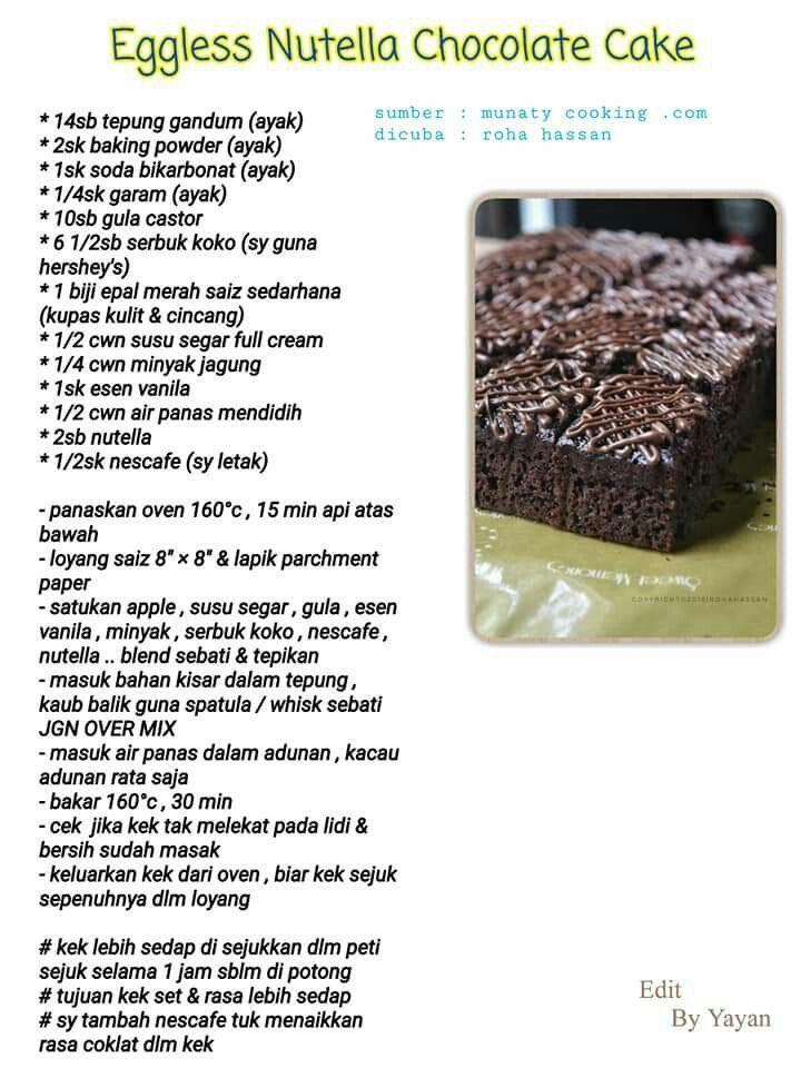 Pin By Wani Ling On Food Baking Sweets Eggless Cake Vegan Cake