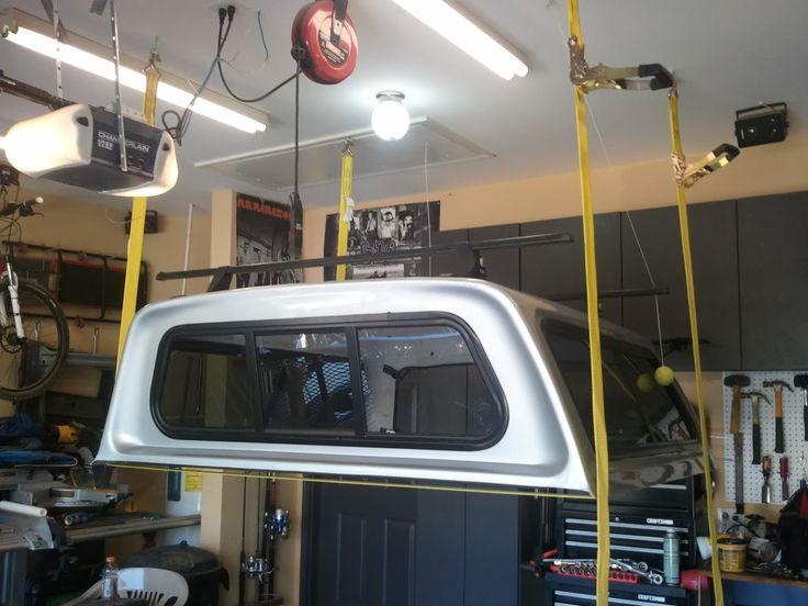 Build A Jeep Wrangler >> Image result for diy truck cap hoist | Garage Storage ...