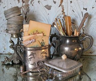 I love to use silver for holding all the everyday type stuff... Why have it if you don't use it!