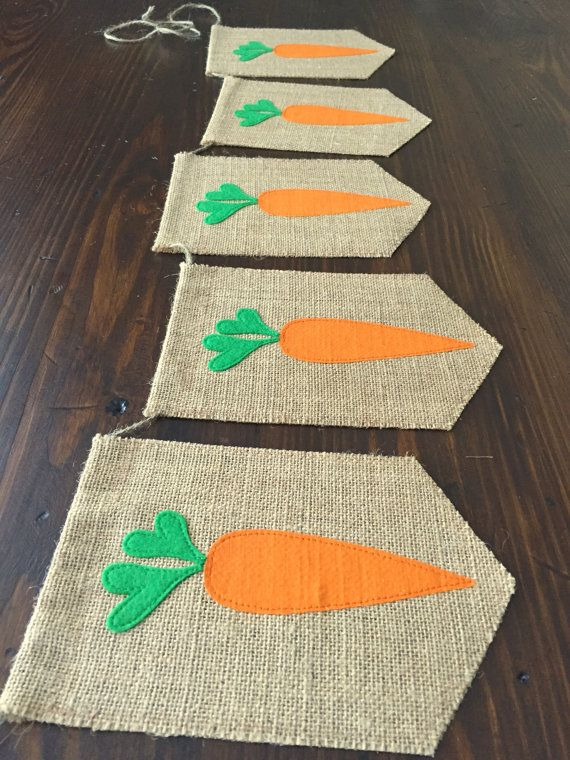 Carrot Bunting Banner//Peter Rabbit Farmer's Market by asherblaine