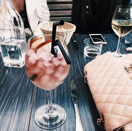 sangria and chanel. summer vibes