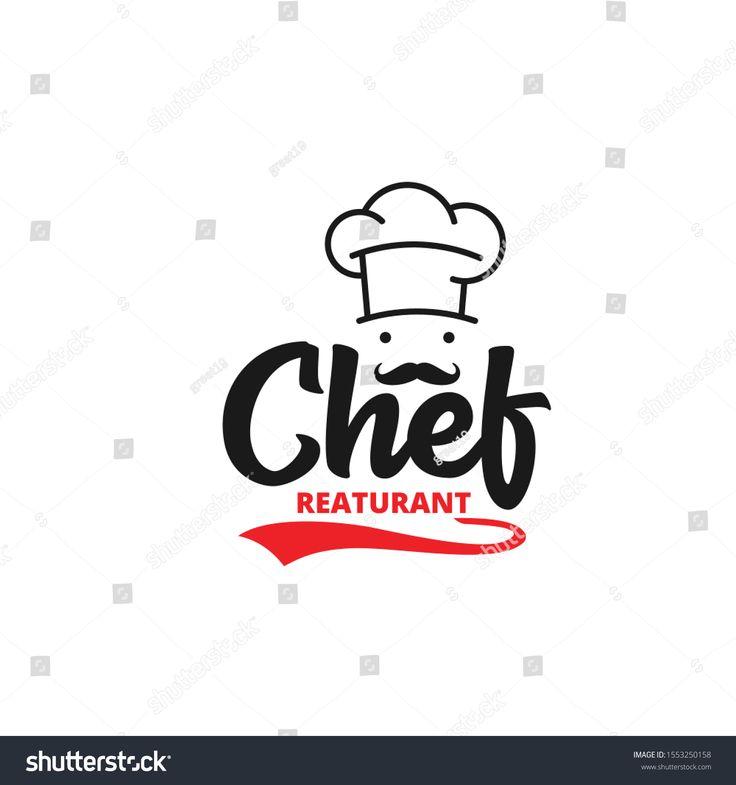 Chef Hat With Mustache Food Restaurant Vector Logo Design