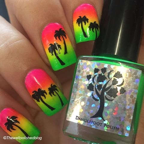 234 best nail art images on pinterest make up boho and candies rasta palm here nail art using whatsupnails vinyls from nailartuk prinsesfo Choice Image