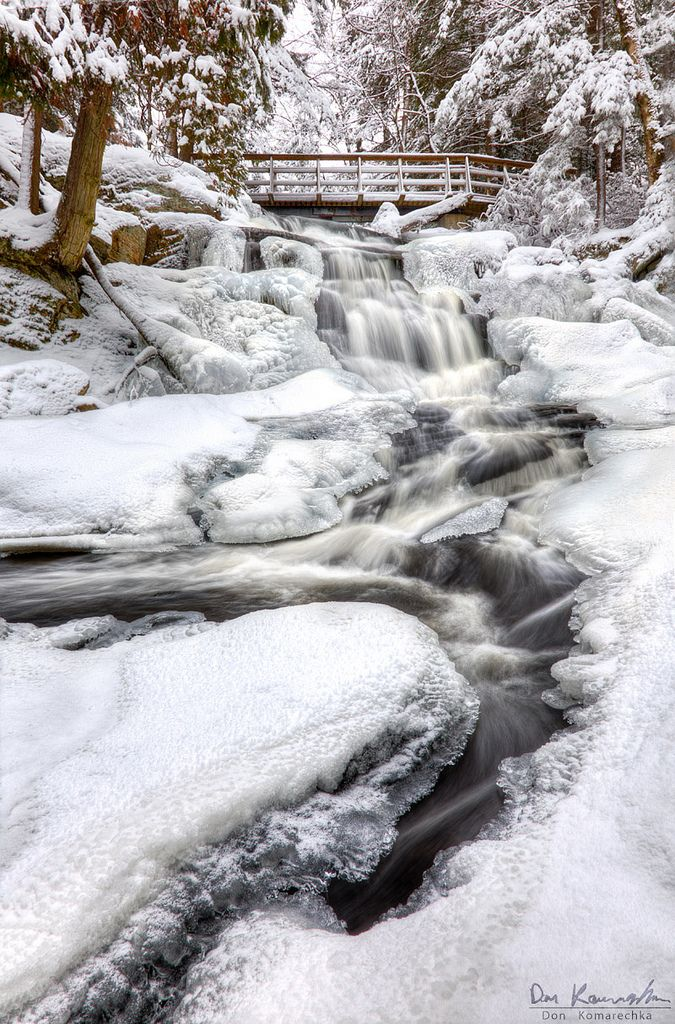 Flowing Through Ice | Flickr - Don Komarechka Bracebridge, Ontario