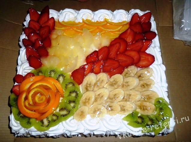 Торт из мороженого с фруктами рецепт