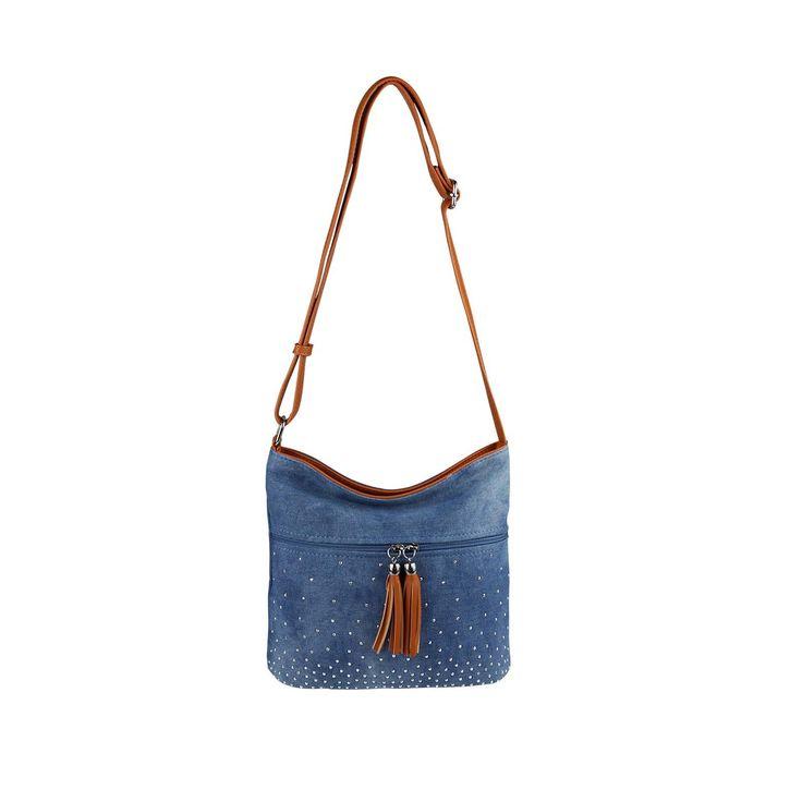 OBC DAMEN JEANS TASCHE Crossbody Bag Nieten City Bag CrossOver Damentasche Stras… – Italyshop24.com