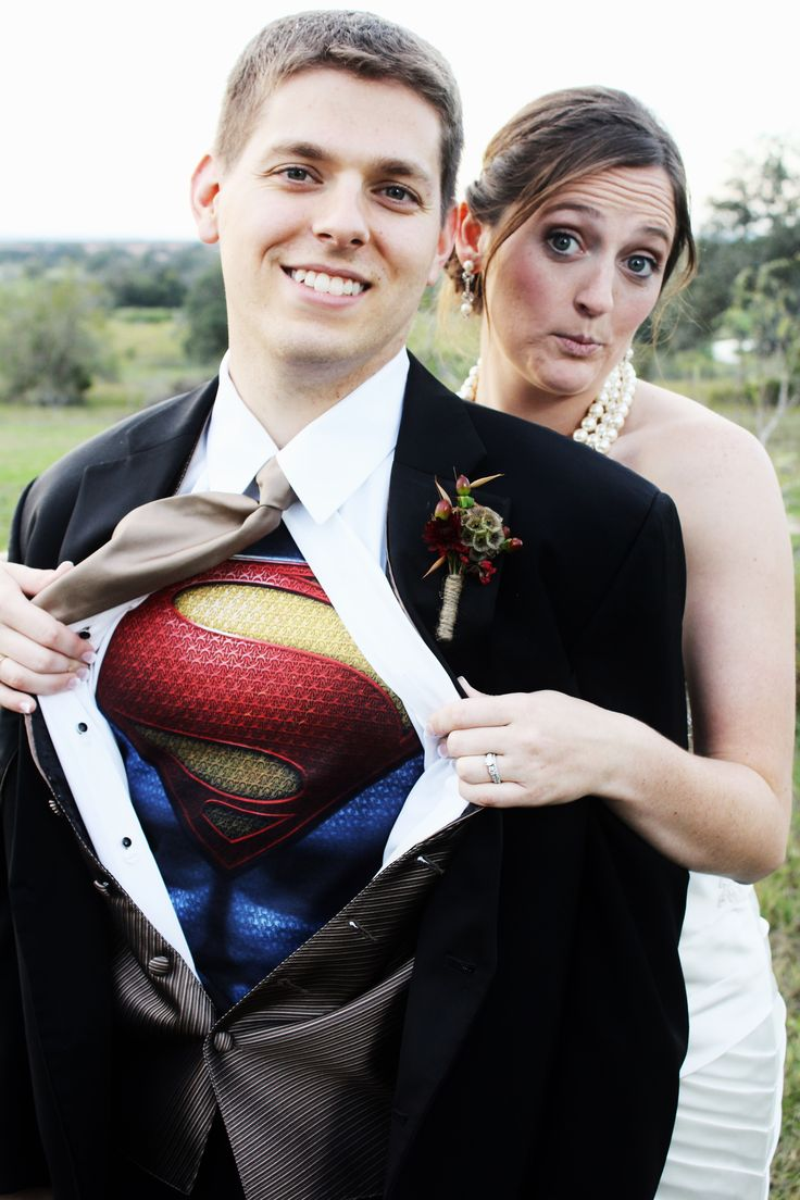 Superman Super Hero Wedding Shot... LOVE © Cari Wible Photography