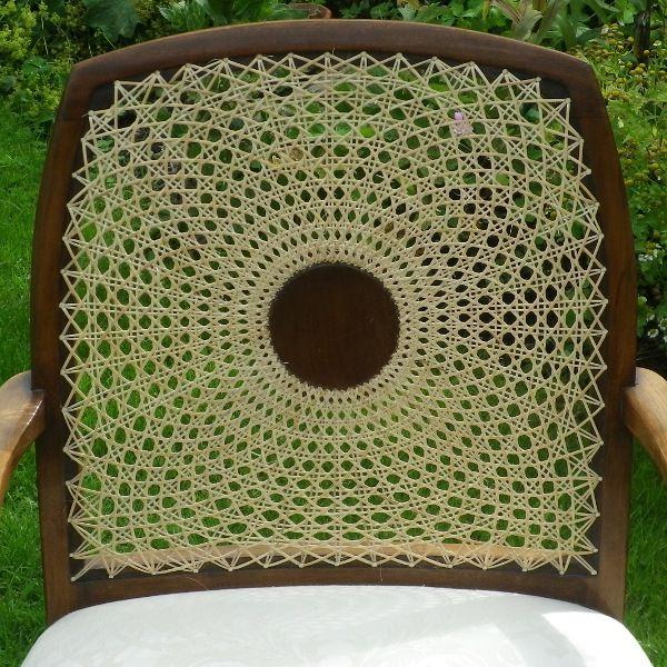 Cane Medallion Back Arm Chair Repair The Circular Pattern